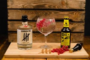 Linden No. 4 Dry Gin mit Aqua Monaco Tonic Water